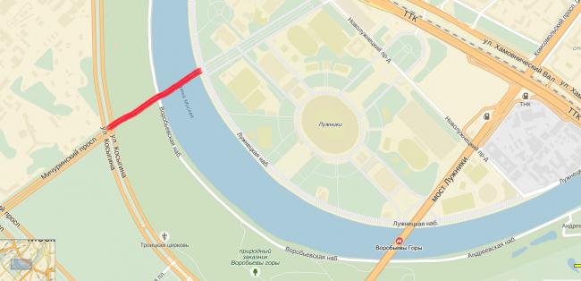 «Виртуальный мост» между Мичуринским проспектом и Большой Пироговской улицей