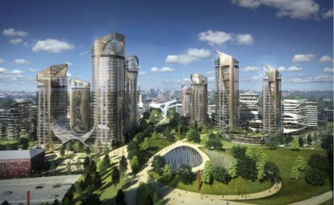 Проект для парка «Зарядье», архитектурное бюро Diller Scofi dio  +Renfro. Изображение: newsmsk.com