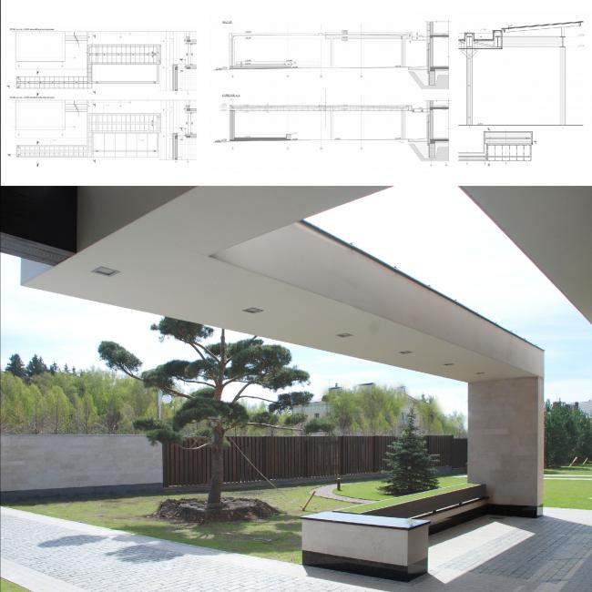 Подмосковный загородный дом. Открытые террасы и зоны отдыха ©Четвертое Измерение