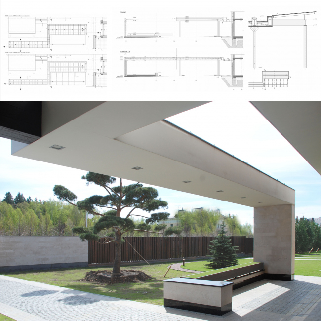 Country house in Moscow area. Open air terraces and recreation zones © Fourth dimension