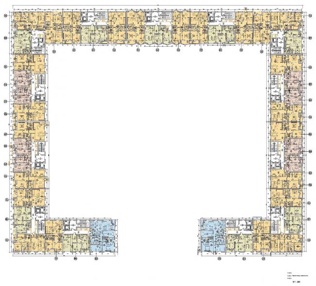 Первая очередь жилой застройки микрогорода «В лесу». План этажа