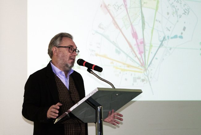 Oleg Shapiro, one of the authors of the winning project. Photo by Alla Pavlikova