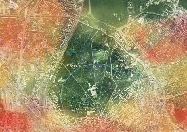"Third place. ""Sokolniki Park: Legacy Evolution"". Authors: Lola Landscape architects (Netherlands), Architectural group ЗОН (Russia), Taller 301 (Columbia), Land + Civilization Compositions (Netherlands), Symboisis Grontmij Belgium NV (Belgium), Studio Tra"