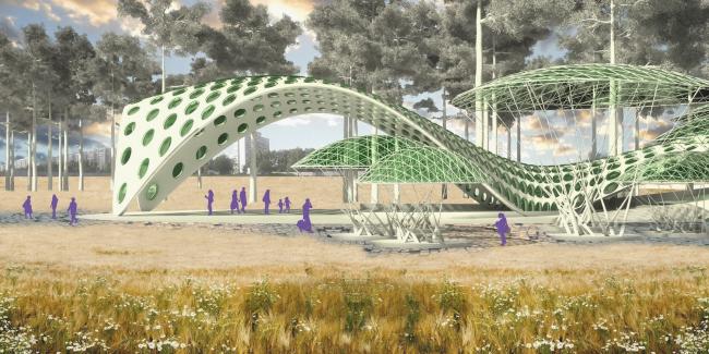 Проект станции метро «Солнцево». Изображение: ru-architect.livejournal.com