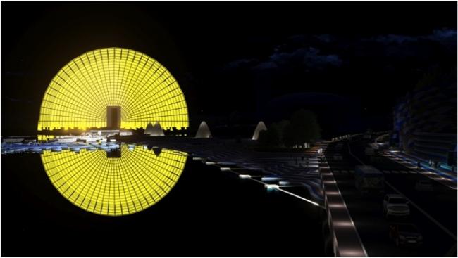Проект комплекса «Земля Олонхо». © Елдана. Материалы предоставлены организаторами конкурса «Земля Олонхо»