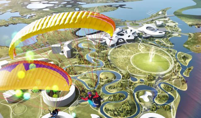 Проект комплекса «Земля Олонхо». © Атриум и партнеры. Материалы предоставлены организаторами конкурса «Земля Олонхо»