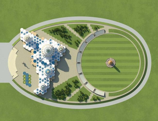 Проект комплекса «Земля Олонхо». © Санар и Адгезия. Материалы предоставлены организаторами конкурса «Земля Олонхо»