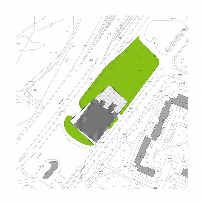 Дилерский центр с комплексом обслуживания на Куликовской улице. Проект, 2006-2007 © ADM