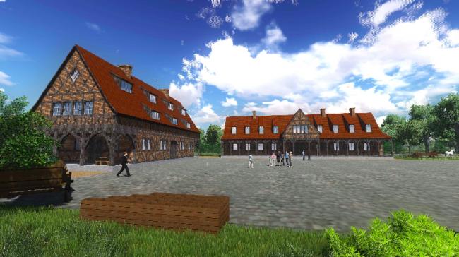 3D-визуализация туристическо-образовательного ландшафтного комплекса «Кант-резиденция», НП Градостроительное бюро «Сердце города». Изображение: tuwangste.ru