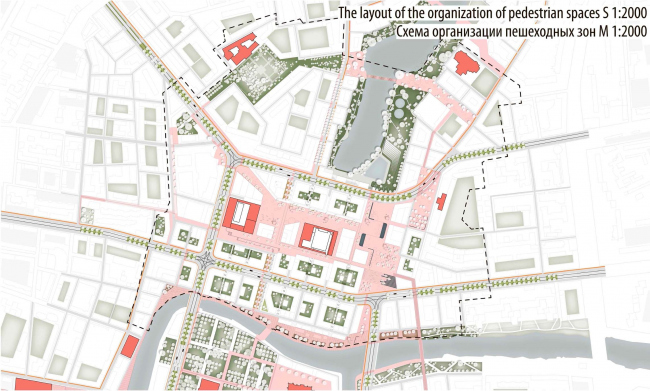 Конкурсный проект концепции развития территорий исторического центра города Калининграда. 3-е место © HOSPER Sweden AB (Швеция), соавторы Mandaworks AB и  Andreas Jonasson Arkitektkontor AB