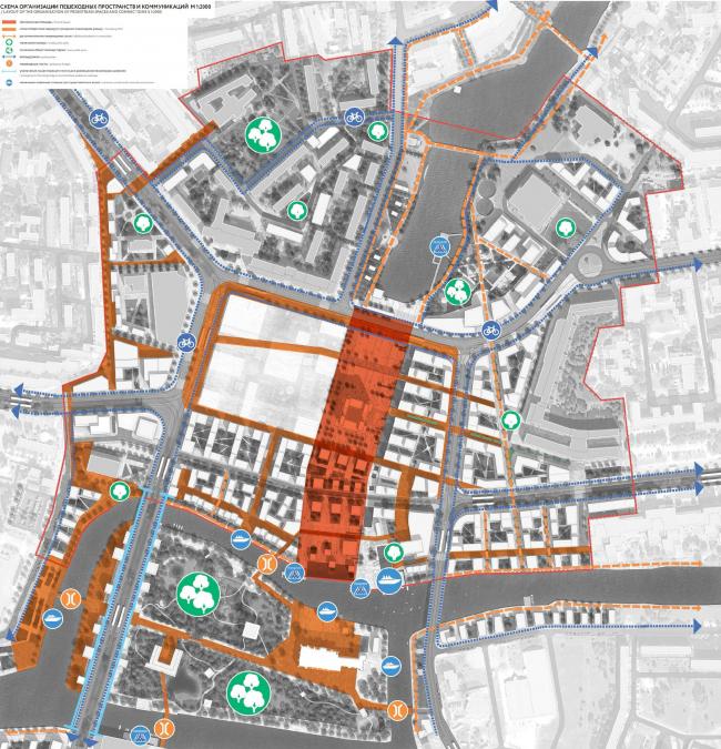 Конкурсный проект концепции развития территорий исторического центра города Калининграда. 2-е место © Devillers et Associes (Франция) + студия Off-the-grid + Wall (Россия)