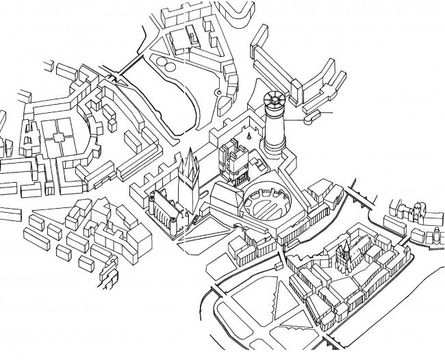 Конкурсный проект концепции развития территорий исторического центра города Калининграда. 3-е место © Тревор Скемптон (Великобритания)