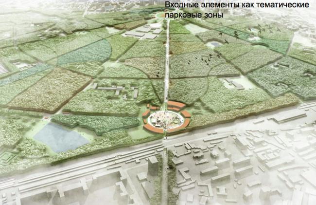 Шестое место. Проект «4 парка, 40 лесов, 1 Сокольники». Авторы: бюроMLA+ B.V. и OPENFABRIC Landscape for Contemporary City (Нидерланды), бюро OPAS Architecture and Urban Strategies (Нидерланды).