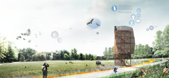 Восьмое место, проект «(Не)видимые пути». Авторы: бюро OKRA (Нидерланды), Городское архитектурное бюро ПИАР (Россия).