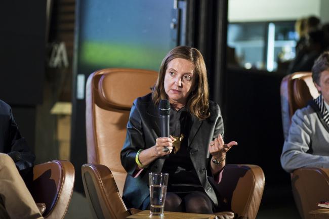 Беатрис Коломина на «Стрелке». Фото: Егор Слизяк / Институт «Стрелка»