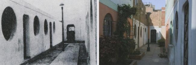 Район PREVI в Лиме. Дома по проекту Дж. Стерлинга в 1978 и 2003. Фото с сайта quaderns.coac.net