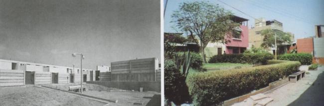 Район PREVI в Лиме. Дома по проекту К. Курокавы, К. Кикутакэ и Ф. Маки в 1978 и 2003. Фото с сайта quaderns.coac.net