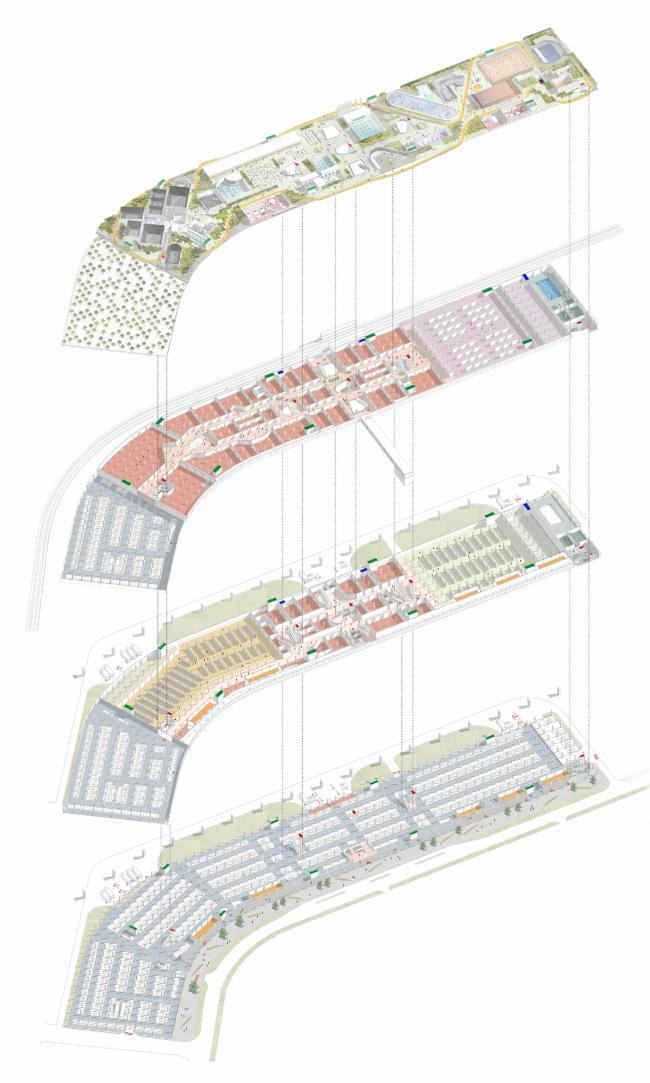 """Конкурсный проект торгово-развлекательного центра """"Дрожжино-2"""". 1-е место © Меганом / Nowadays"""