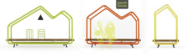 Скамейки Benchhouse, 2013 г. Автор: Арсений Леонович © Архитектурное бюро PANACOM