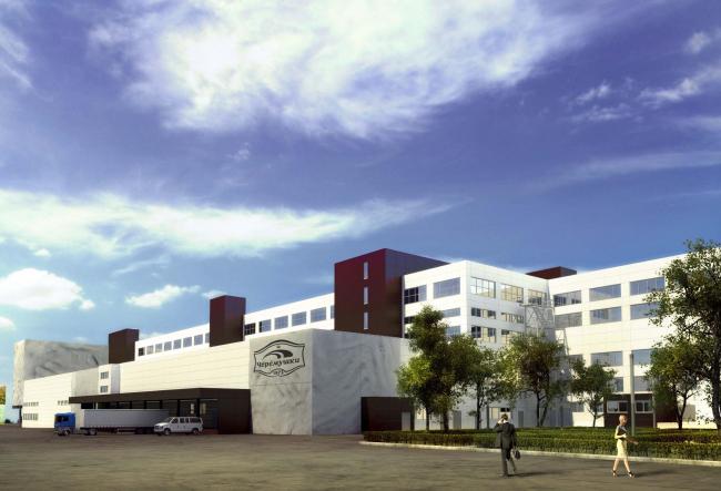 Конкурсный проект реконструкции кондитерско-булочного комбината «Простор». 3-е место © Арх Груп