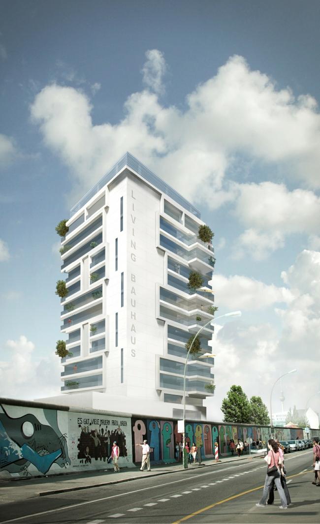 Жилой дом Living Levels - East Side Tower. Предоставлено nps tchoban voss