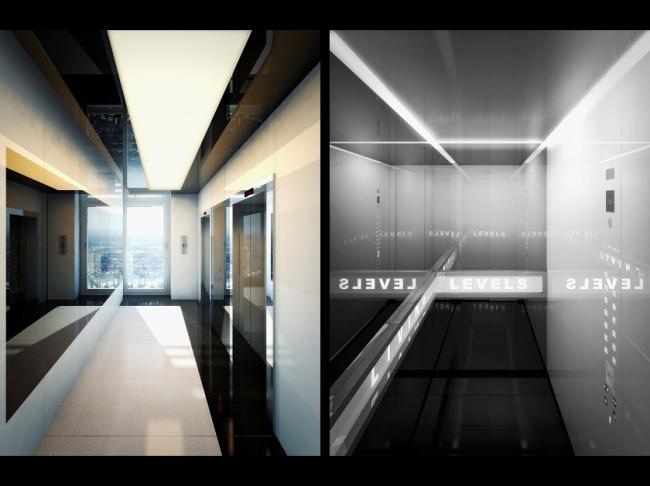 Жилой дом Living Levels – East Side Tower © nps tchoban voss