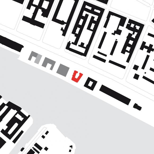 Жилой комплекс White Cube. Ситуационный план © nps tchoban voss