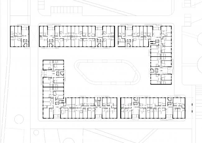 Жилой комплекс в Апрелевке. 7-й корпус. План 1-го этажа © АБ Остоженка
