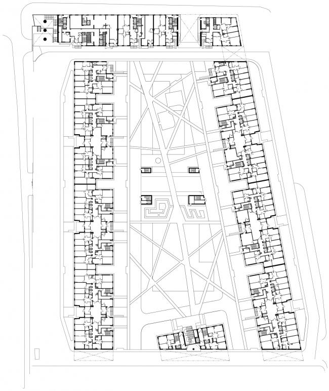 Жилой комплекс в Одинцово. План 1 этажа © АБ Остоженка