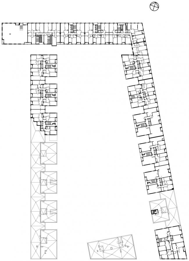 Жилой комплекс в Одинцово. План 9-13 этажей © АБ Остоженка