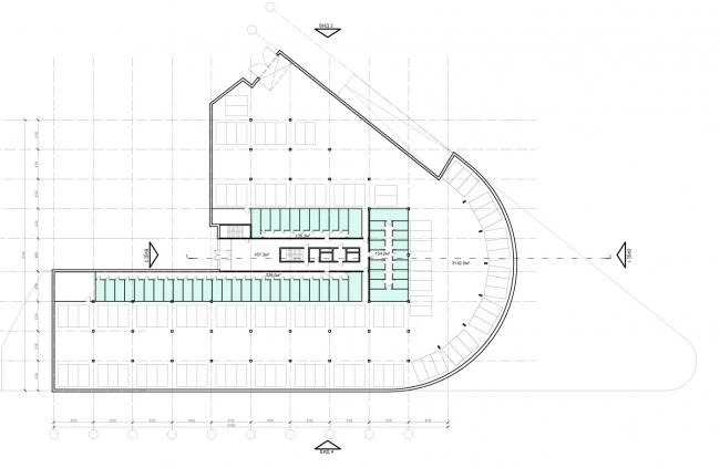 Проект района среднеэтажной жилой застройки в окрестностях Екатеринбурга. Корпус №5. План 1-го этажа © «Архитектуриум», 2014