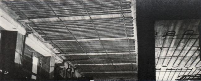 Библиотека Аалто в Выборге. Потолочная отопительная система. Архивая фотография /   aalto.vbgcity.ru