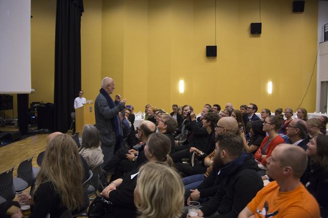 Лекция Петера Цумтора на симпозиуме Нордкалотт-2014 Фото © NAF / Øystein Nermo