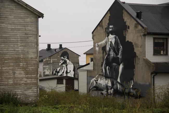 Граффити в Вардё. Фото © NAF / Øystein Nermo