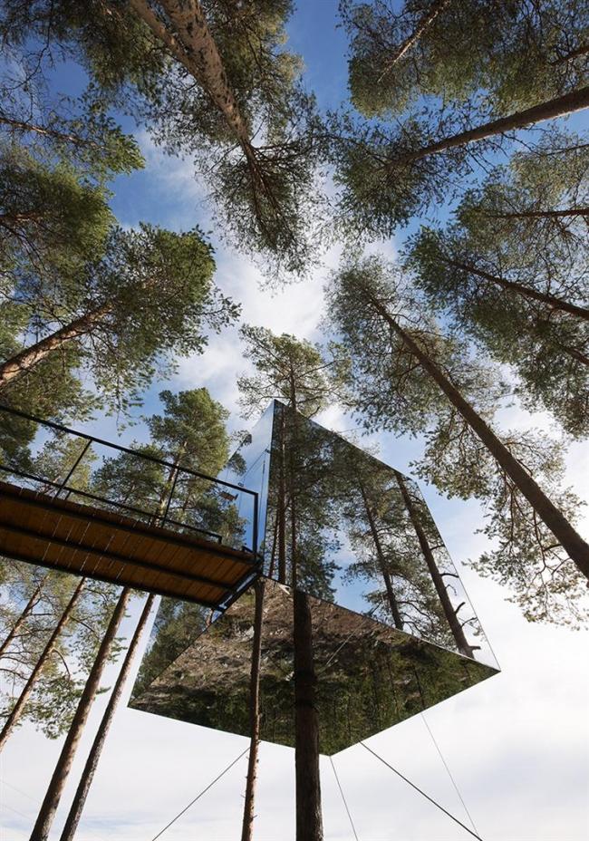 Tham & Videgård Arkitekter. «Отель на дереве» на севере Швеции. 2010. Фото © Åke E:son Lindman