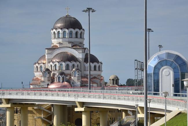 Храм Нерукотворного Образа Христа Спасителя. Фотография с сайта olimp.kcbux.ru