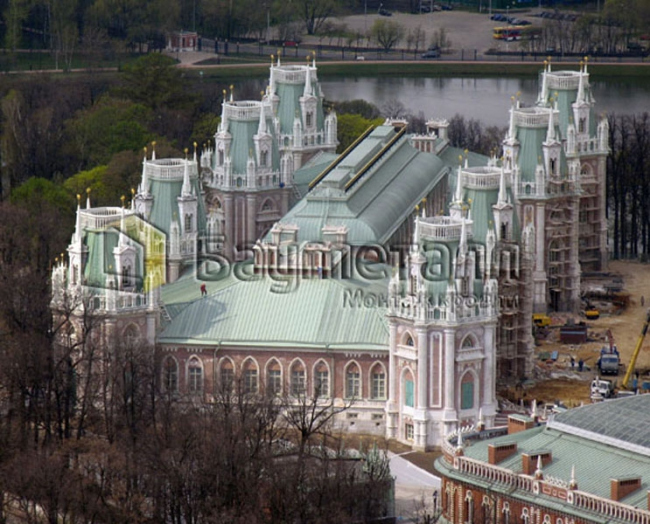 Реставрация зданий музея-заповедника Царицыно. Фотография с сайта baumetall.ru