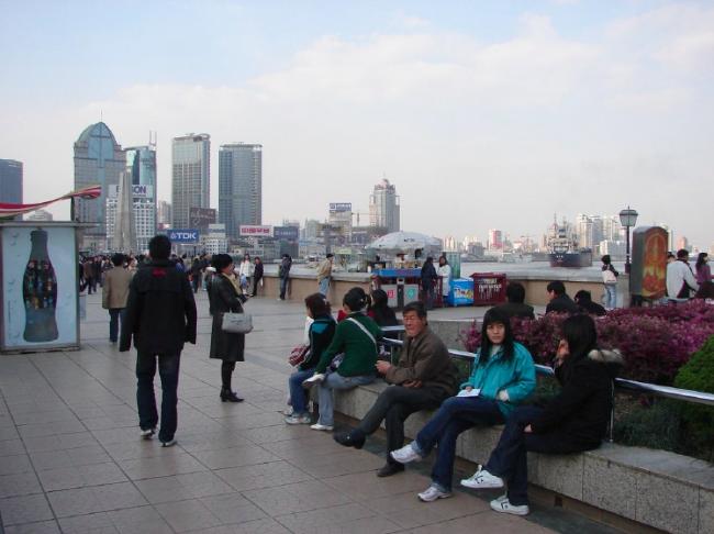 Шанхай. Набережная реки Янцзы