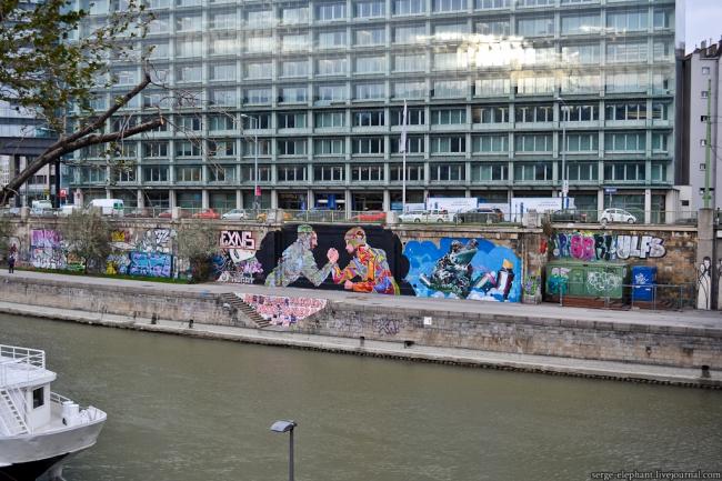 Набережная Дунайского канала в Вене