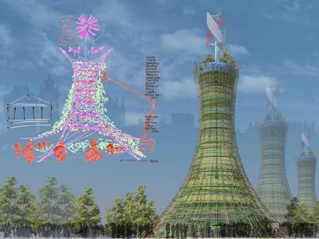 «Экспериментальный проект будущего» / Вертикальная ферма Skyfarm для Экспо-2015 в Милане (Италия), Rogers Stirk Harbour + Partners и Arup. Изображение предоставлено WAF