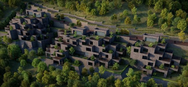 «Жилье будущего» / Жилой комплекс The Village (Индия), бюро Sanjay Puri Architects. Изображение предоставлено WAF