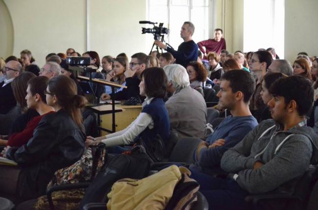 Лекция Валерия Нефёдова в МАРХИ. Фото: Елена Петухова