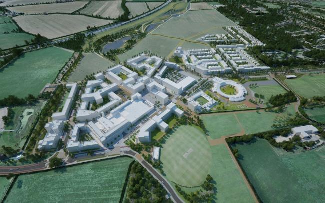 «Мастер-план – будущие проекты» / Мастерплан северо-западной части Кембриджа (Великобритания), бюро AECOM Design & Planning. Изображение предоставлено WAF