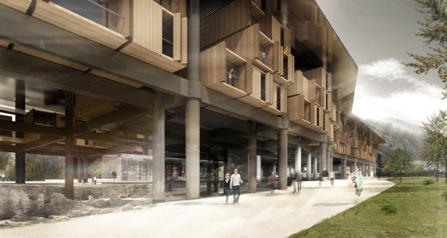 «Досуг – будущие проекты» / Музей-отель в городе Антакья (Турция), бюро EAA-Emre Amrolat Architects. Изображение предоставлено WAF