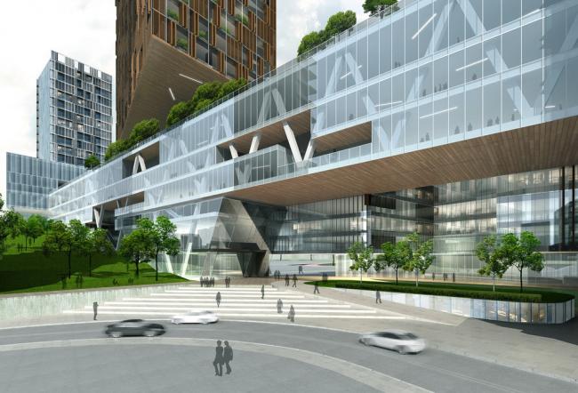 «Здравоохранение – будущие проекты» / Расширение народной больницы Футянь в Шэньчжэне (Китай), бюро Leigh & Orange. Изображение предоставлено WAF
