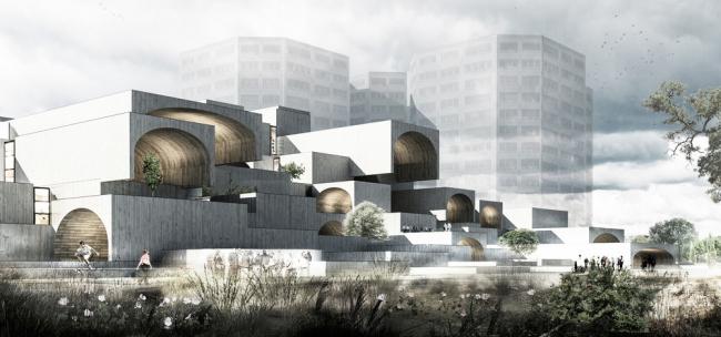 «Коммерческое и смешанное использование – будущие проекты» / Коммерческий центр Dreamland в Исхафане (Иран), бюро Farshad Mehdizadeh Architects . Изображение предоставлено WAF