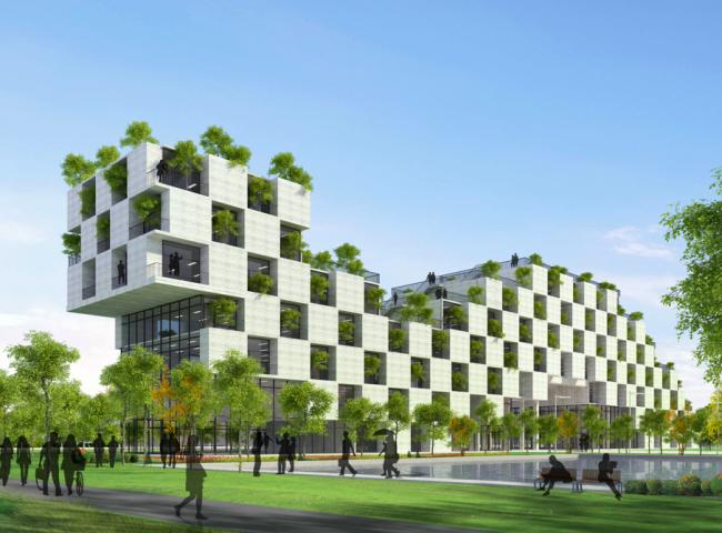 «Образовательный проект будущего» / Технологический факультет Университета FPT близ Ханоя (Вьетнам), бюро Vo Trong Nghia Architects. Изображение предоставлено WAF