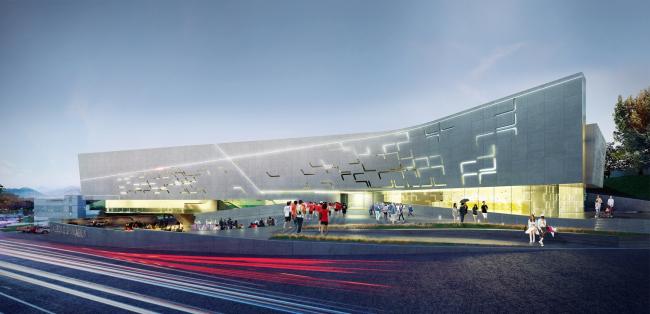 "Project of a sport complex for the district of Dalseong-gun,South Korea © ""A.Len"" Architectural Bureau"