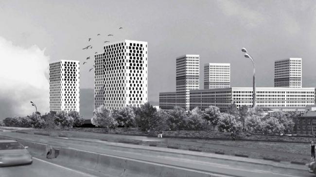 Многосекционный жилой дом на Варшавском шоссе