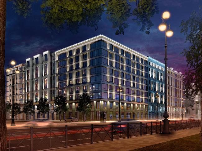 Многоквартирный жилой комплекс «Европа Сити» на проспекте Медиков. Проект, 2015